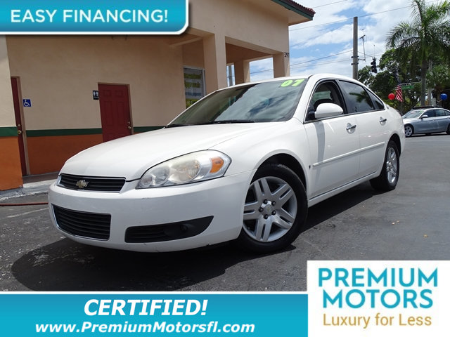 2007 CHEVROLET IMPALA 4DR SEDAN LTZ BUY WITH CONFIDENCE CARFAX Buyback Guarantee qualified LOADE