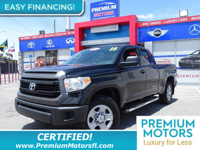 2015 TOYOTA TUNDRA TUNDRA DOUBLE CAB SR  SRS LOADED CERTIFIED WE SAVE YOU THOUSANDS Fully serv