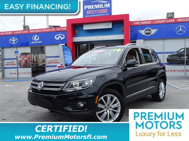 2014 VOLKSWAGEN TIGUAN  LOADED CERTIFIED WE SAVE YOU THOUSANDS Fully serviced just sign and dr