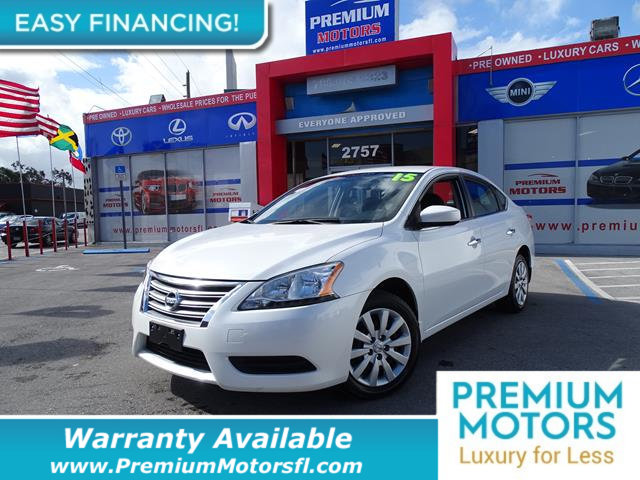 2015 NISSAN SENTRA  LOADED CERTIFIED WE SAVE YOU THOUSANDS Dont Pay Retail Get low monthly pa