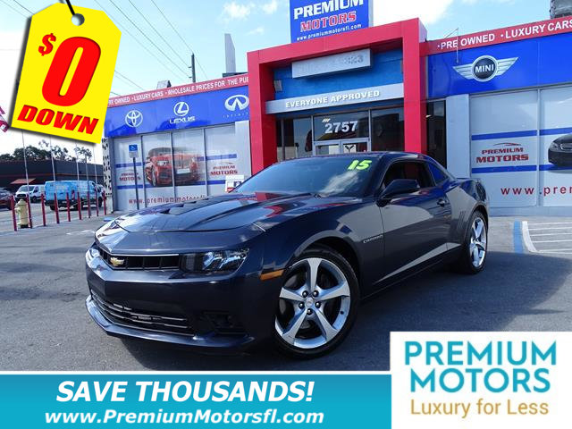 2015 CHEVROLET CAMARO 2DR COUPE SS W1SS CHEVY FOR LESS FACTORY WARRANTY At Premium Motors