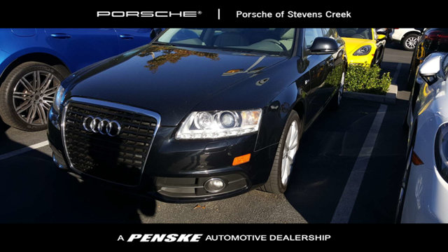 2011 AUDI A6 4DR SEDAN QUATTRO 30T PRESTIGE Quattro Black with Valcona Partial Leather Seating S