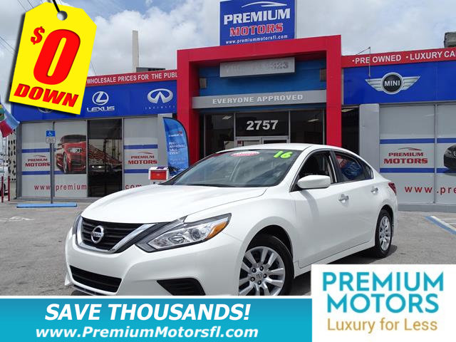 2016 NISSAN ALTIMA 4DR SEDAN I4 25 S NISSAN FOR LESS FACTORY WARRANTY
