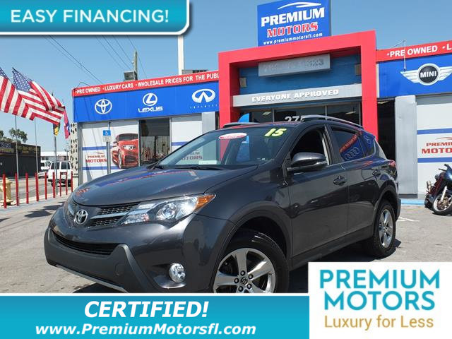 2015 TOYOTA RAV4 FWD 4DR XLE LOADED CERTIFIED FACTORY WARRANTY Fully serviced just sign and dr