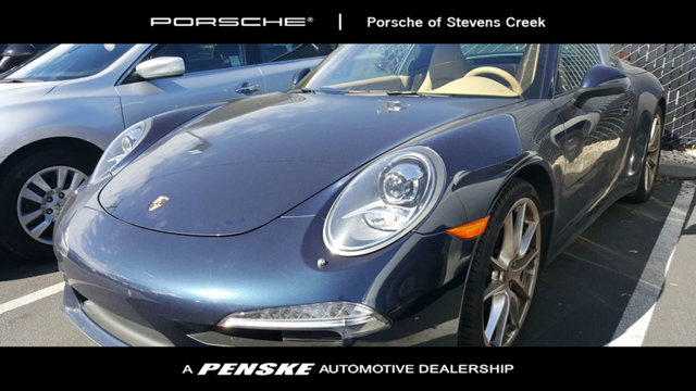 2015 PORSCHE 911 2DR TARGA 4 CARFAX One-Owner Certified Dark Blue Metallic 2015 Porsche 911 Targ