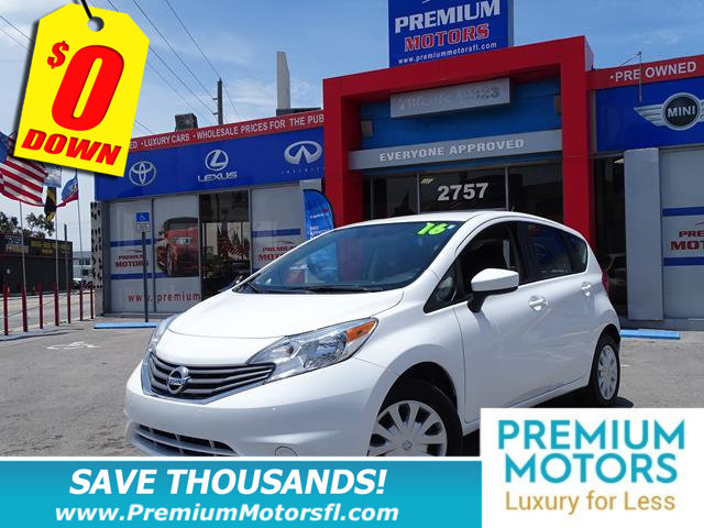 2016 NISSAN VERSA NOTE 5DR HATCHBACK CVT 16 SV NISSAN FOR LESS SAVE THOUSANDS At Premium Motors