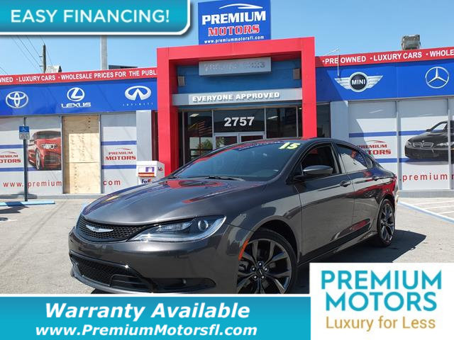 2015 CHRYSLER 200 4DR SEDAN S FWD LOADED CERTIFIED FACTORY WARRANTY Fully serviced just sign a