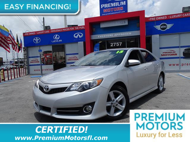 2013 TOYOTA CAMRY 4DR SEDAN I4 AUTOMATIC SE LOADED CERTIFIED WE SAVE YOU THOUSANDS Fully s