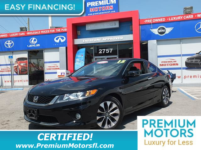 2013 HONDA ACCORD COUPE 2DR I4 AUTOMATIC EX-L LOADED CERTIFIED WE SAVE YOU THOUSANDS Fully