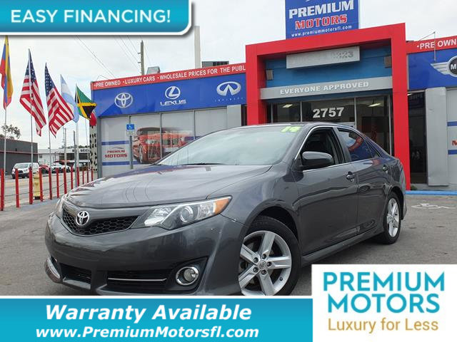 2014 TOYOTA CAMRY 20145 4DR SEDAN I4 AUTOMATIC SE LOADED CERTIFIED WE SAVE YOU THOUSANDS Fully
