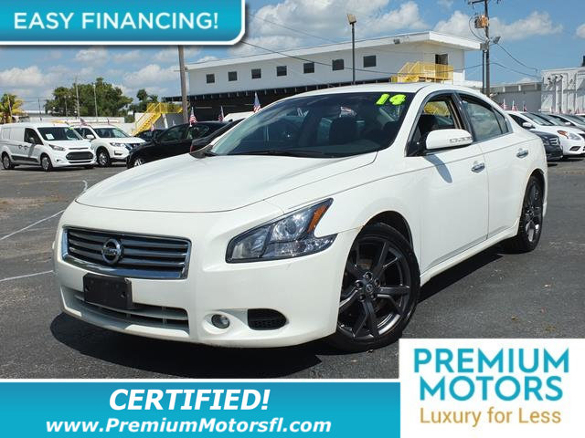 2014 NISSAN MAXIMA 4DR SEDAN 35 SL LOADED CERTIFIEDFACTORY WARRANTY F