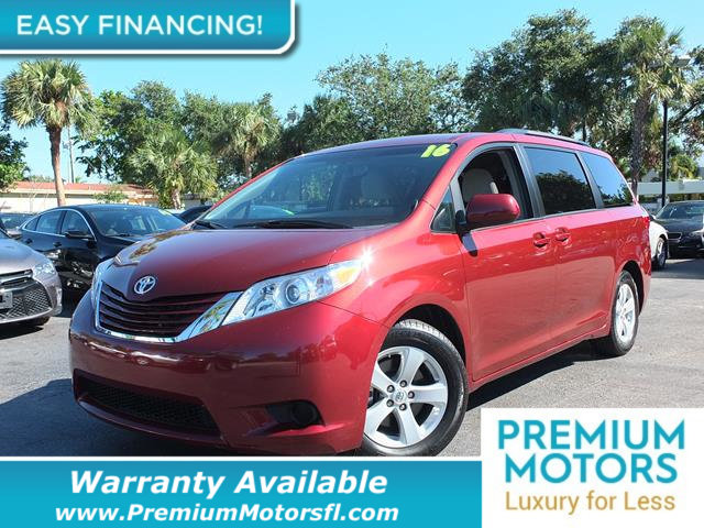 2016 TOYOTA SIENNA 5DR 7-PASSENGER VAN LE AAS FWD LOADED CERTIFIED WE SAVE YOU THOUSANDS Fully
