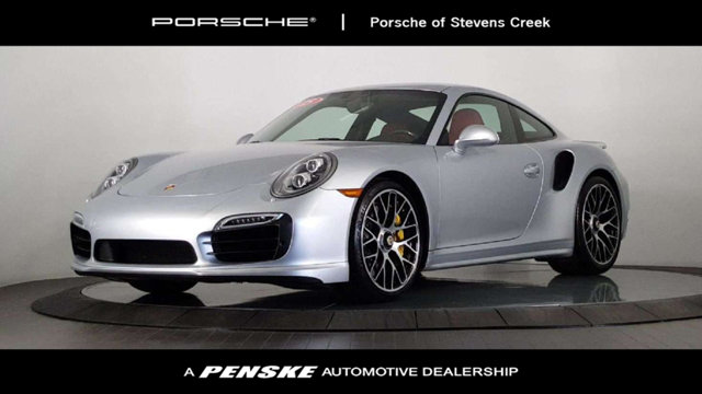 2015 PORSCHE 911 2DR COUPE TURBO S CARFAX One-Owner Clean CARFAX Rhodium Silver Metallic 2015 Po