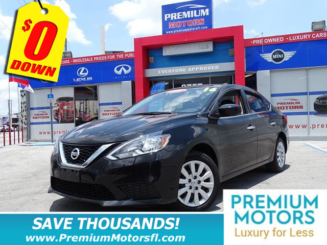 2016 NISSAN SENTRA 4DR SEDAN I4 CVT SV NISSAN FOR LESS FACTORY WARRANTY At Premium Motors