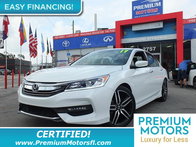 2017 HONDA ACCORD SEDAN SPORT CVT LOADED CERTIFIED FACTORY WARRANTY Fully serviced just sign a