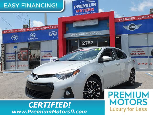 2015 TOYOTA COROLLA 4DR SEDAN CVT S LOADED CERTIFIED FACTORY WARRANTY Fully serviced just sign