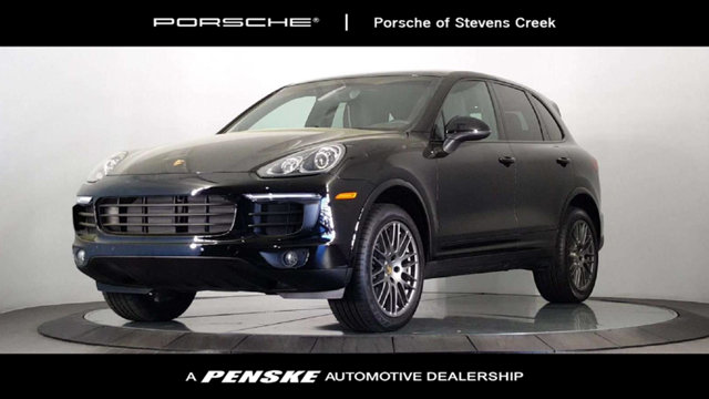 2017 PORSCHE CAYENNE 4DR SUV PLAT ED AWD Porsche Certified and Black with Leather Seat Trim One o