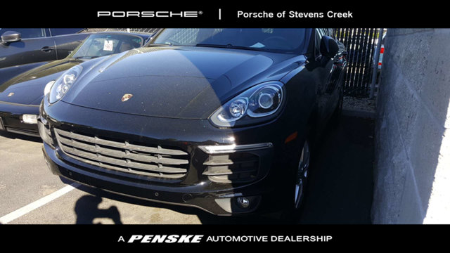 2016 PORSCHE CAYENNE AWD 4DR Black with Leather Seat Trim Rest easy in the comfortable seats Eas