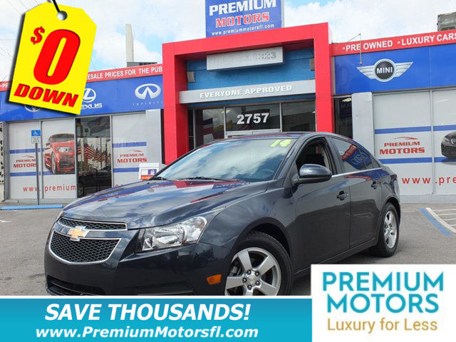 2014 CHEVROLET CRUZE 4DR SEDAN AUTOMATIC 1LT CHEVY FOR LESS SAVE THOUSANDS At Premium Motors we