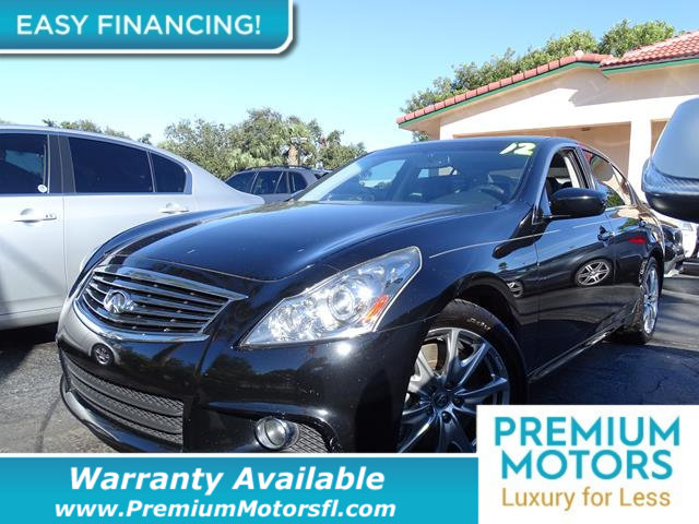 2012 INFINITI G37 SEDAN  LOADED WITH VALUE Comes equipped with Rear Air Conditioning Bluetooth