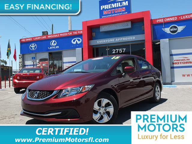 2015 HONDA CIVIC SEDAN 4DR CVT LX LOW MILES Get the best value from your vehicle purchase This 2