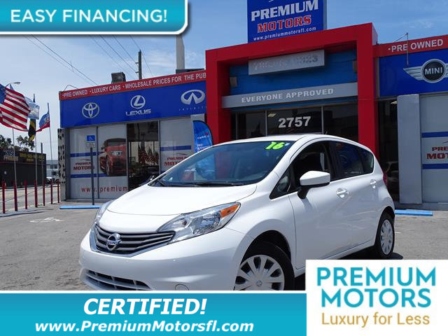2016 NISSAN VERSA NOTE 5DR HATCHBACK CVT 16 SV LOADED CERTIFIEDFACTORY WARRANTY Fully ser