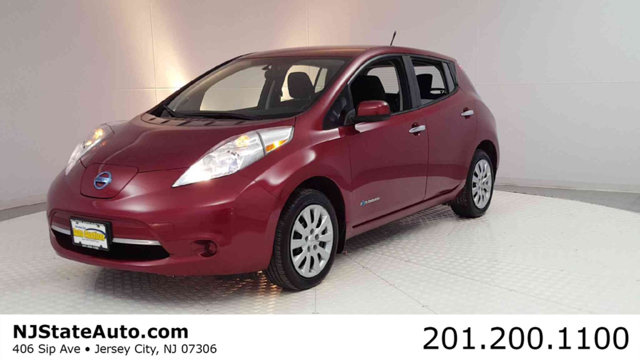 2014 NISSAN LEAF 4DR HATCHBACK S CARFAX One-Owner Clean CARFAX Cayenne Red 2014 Nissan Leaf S FWD