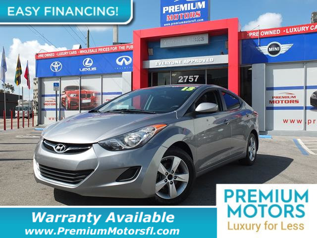 2013 HYUNDAI ELANTRA 4DR SEDAN AUTOMATIC GLS PZEV LOADED CERTIFIED WE SAVE YOU THOUSANDS F
