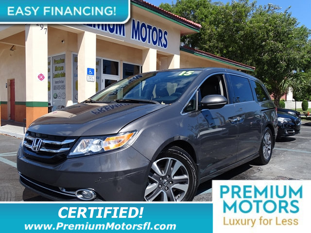 2015 HONDA ODYSSEY 5DR TOURING HUGE SALE FACTORY WARRANTY At Premium Motors we have relations