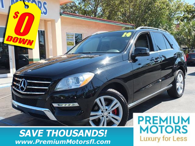 2014 MERCEDES M-CLASS  MERCEDES FOR LESS LOADED At Premium Motors we have relationships with ba