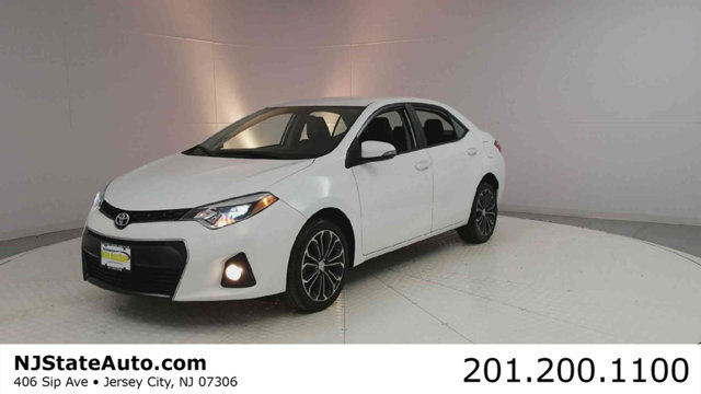 2015 TOYOTA COROLLA 4DR SEDAN CVT S CARFAX One-Owner Clean CARFAX Blizzard Pearl 2015 Toyota Coro