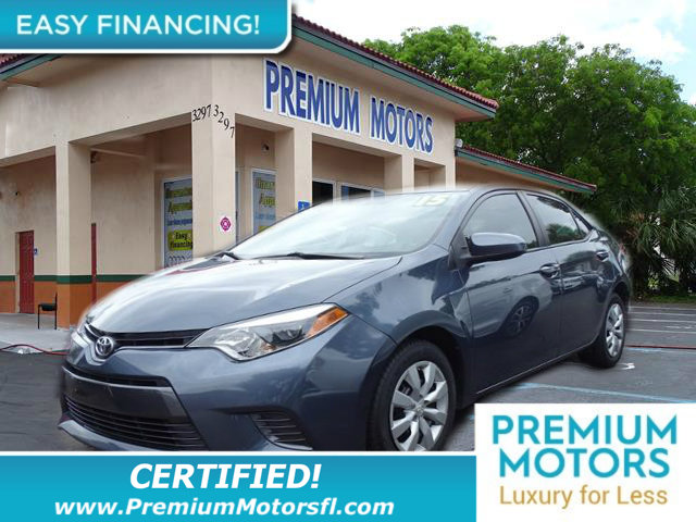 2015 TOYOTA COROLLA 4DR SEDAN CVT LE LOADED CERTIFIED WE SAVE YOU THOUSANDS Fully serviced