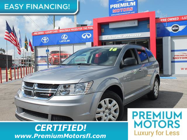 2016 DODGE JOURNEY FWD 4DR SE LOADED CERTIFIED FACTORY WARRANTY Fully serviced just sign and d