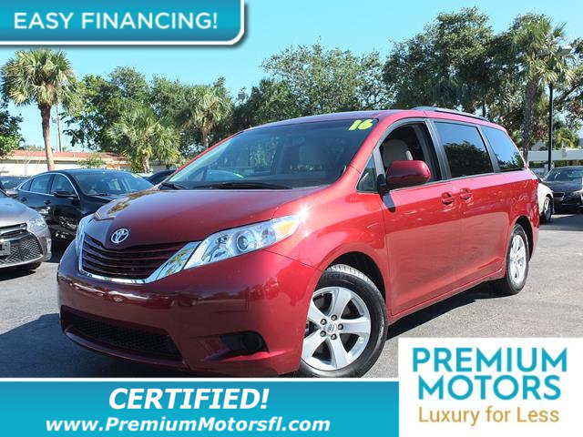 2016 TOYOTA SIENNA 5DR 8-PASSENGER VAN LE FWD LOADED CERTIFIED WE SAVE YOU THOUSANDS Fully
