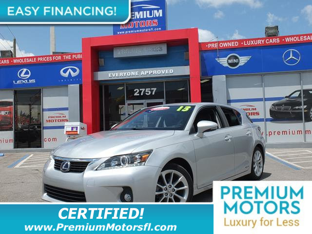 2013 LEXUS CT 200H 5DR SEDAN HYBRID LOADED CERTIFIED WE SAVE YOU THOUSANDS Fully serviced just