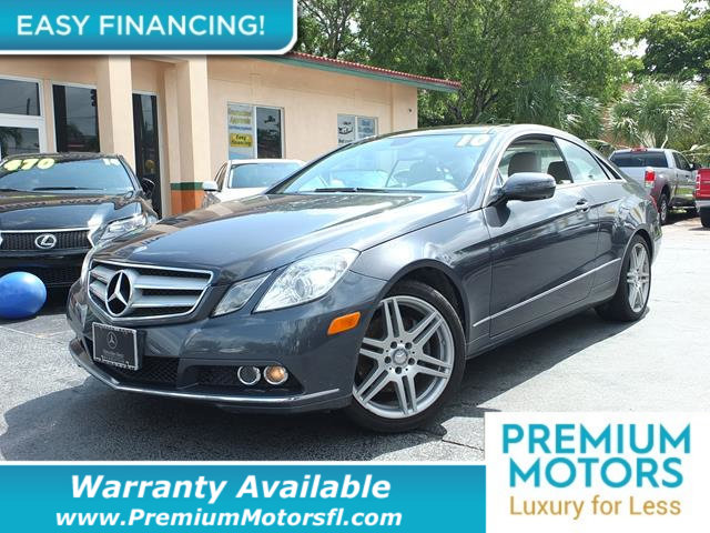 2010 MERCEDES E-CLASS 2DR COUPE E 350 RWD LOADED CERTIFIED WARRANTY Dont Pay Retail Get low m
