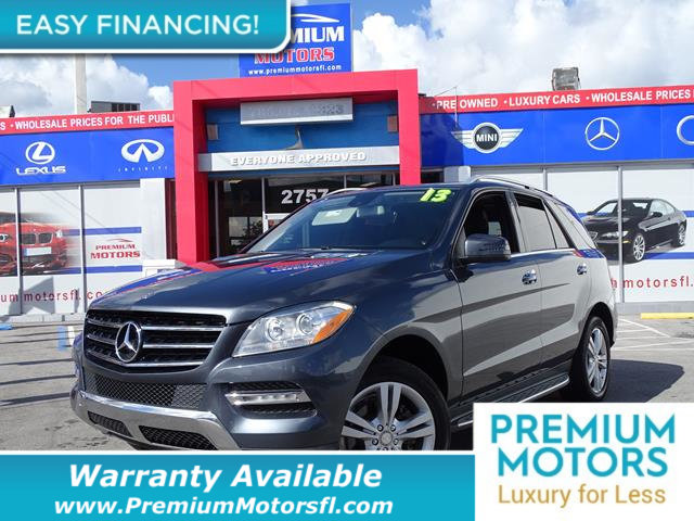 2013 MERCEDES M-CLASS  LOADED CERTIFIED WE SAVE YOU THOUSANDS Fully serviced just sign and dri