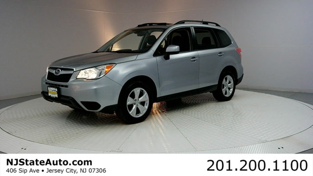 2015 SUBARU FORESTER 4DR CVT 25I PREMIUM PZEV Clean CARFAX Ice Silver Metallic 2015 Subaru Fores