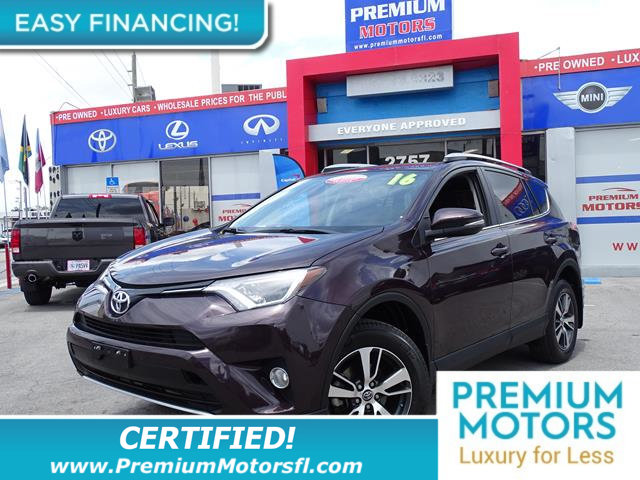 2016 TOYOTA RAV4 AWD 4DR XLE LOADED CERTIFIED MINT CONDITION and 1000s Below Retail Get low mo