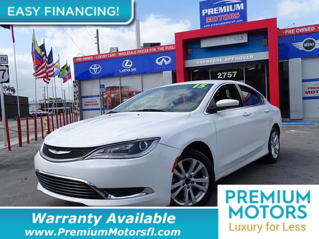 2015 CHRYSLER 200 4DR SEDAN LIMITED FWD LOADED CERTIFIED WE SAVE YOU THOUSANDS Dont Pay Retail