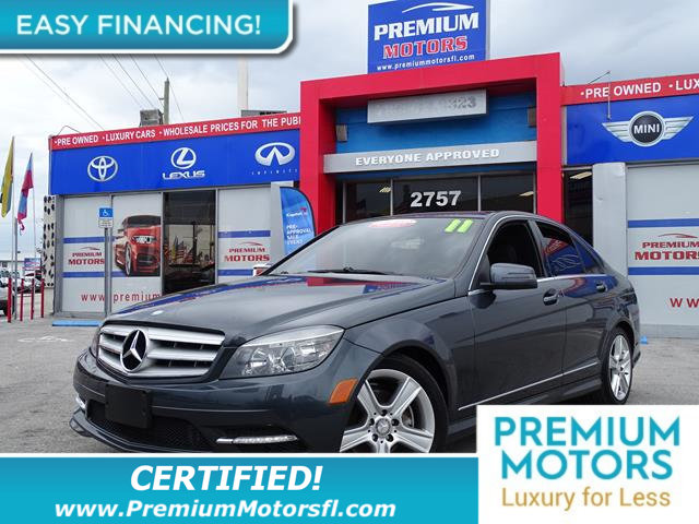 2011 MERCEDES C-CLASS  BUY WITH CONFIDENCE CARFAX Buyback Guarantee qualified LOADED WITH VALUE