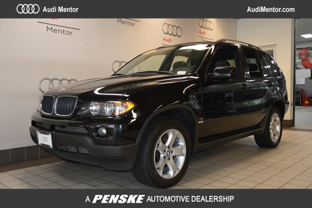 2006 BMW X5 30I PRICED TO MOVE 400 below NADA Retail Black Sapphire Metallic exterior and Truff
