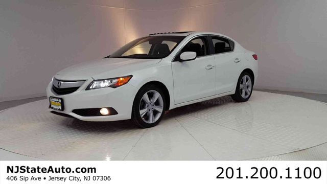 2015 ACURA ILX 4DR SEDAN 20L TECH PKG CARFAX One-Owner Clean CARFAX Bellanova White Pearl 2015 A