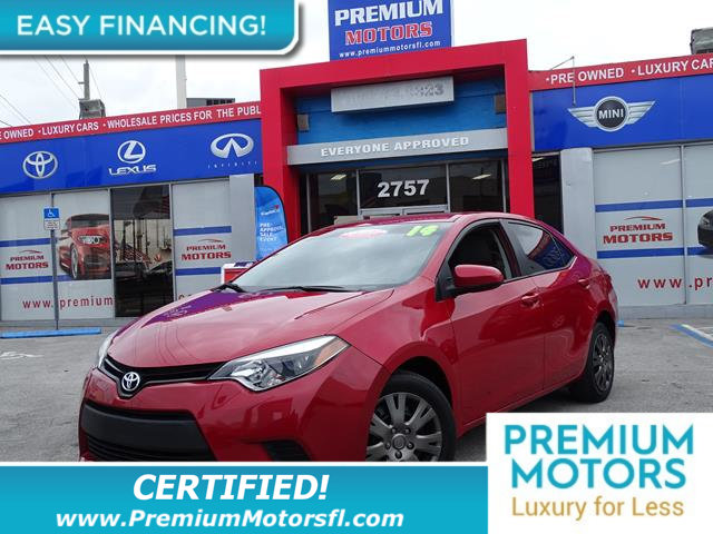 2014 TOYOTA COROLLA  LOW MILES Get the best value from your vehicle purchase This 2014 has a low