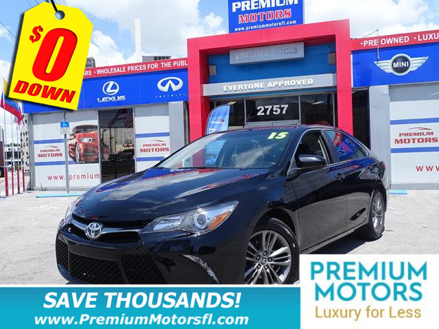 2015 TOYOTA CAMRY 4DR SEDAN I4 AUTOMATIC SE TOYOTA FOR LESS SAVE THOUSANDS At Premium M