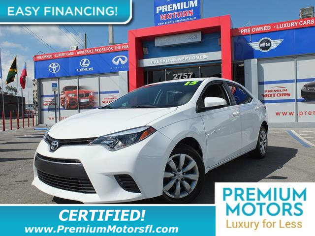2015 TOYOTA COROLLA  LOADED CERTIFIEDFACTORY WARRANTY Fully serviced just sign and drive