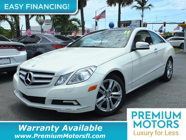 2011 MERCEDES E-CLASS 2DR COUPE E 350 RWD LOADED CERTIFIED WARRANTY Dont Pay Retail Get low mo