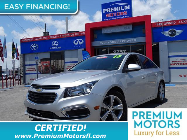 2015 CHEVROLET CRUZE 4DR SEDAN AUTOMATIC 2LT LOADED CERTIFIED WE SAVE YOU THOUSANDS Fully servi