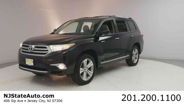 2013 TOYOTA HIGHLANDER 4WD 4DR V6  LIMITED Clean CARFAX Black 2013 Toyota Highlander Limited AWD