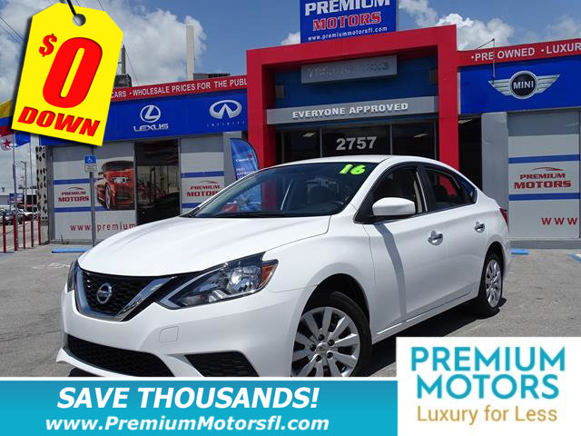 2016 NISSAN SENTRA 4DR SEDAN I4 CVT SV NISSAN FOR LESS SAVE THOUSANDS At Premium Motors we have